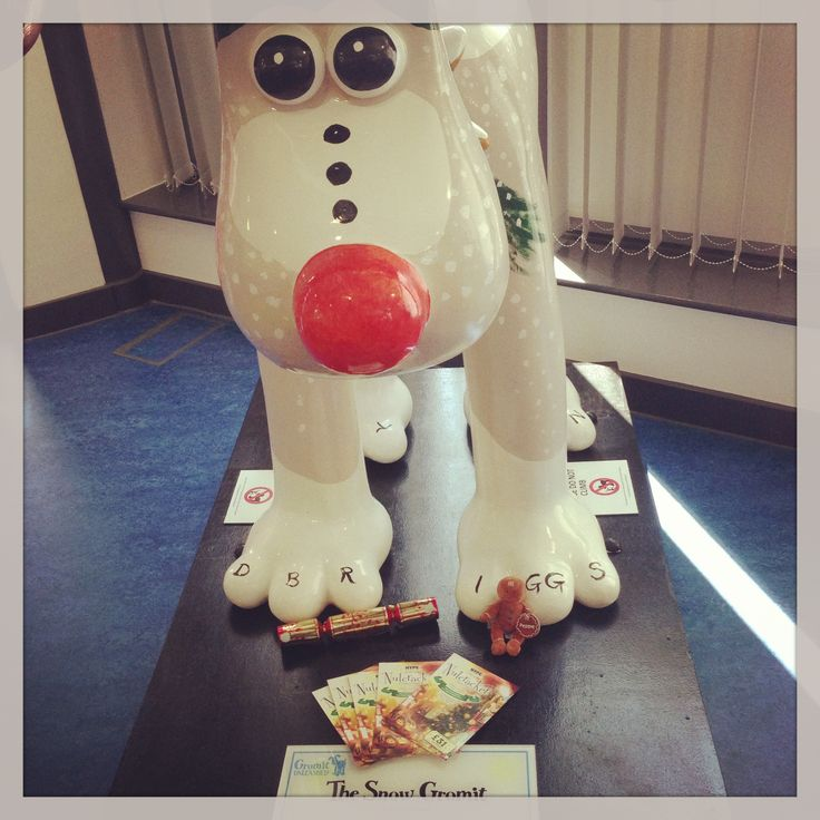 Snow Gromit chilling with our #Nutcracker #Christmas #Party #Gromitunleashed