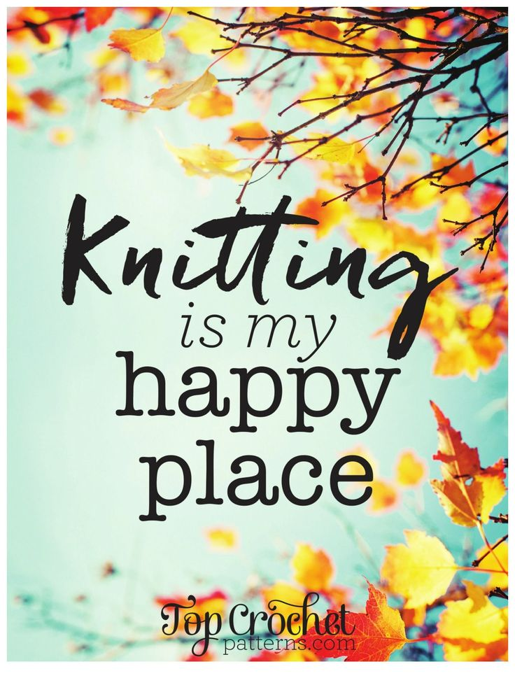 Free Poster Download: Knitting Is My Happy Place