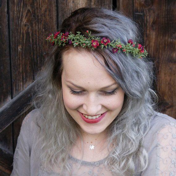 flower crown floral crown gentle wreath wedding flower by mamwene