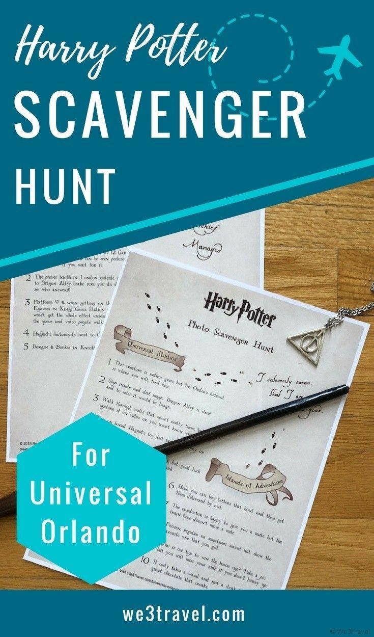 Fun Harry Potter Photo Scavenger Hunt For Universal Orlando Universal Orlando Photo Scavenger Hunt Harry Potter