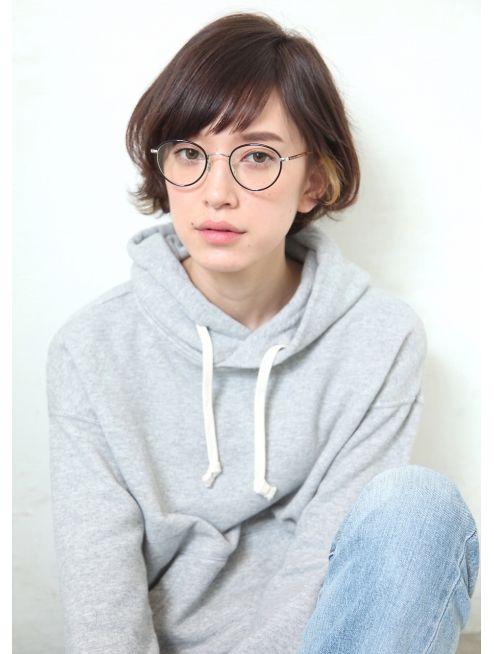 バコ(Baco.)斜めバングのショートボブ【Baco.】