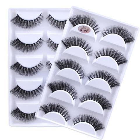 309895969ea 5 pairs 100% Real Fake Mink Eyelashes 3D Natural False Eyelashes 3d Mink  Lashes Soft Eyelash Extension Makeup Kit Cilios 02