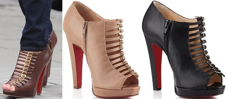 "Christian Louboutin ""Manon"" in Black or Beige $1,295"