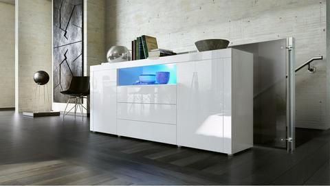 """Sideboard """"Santiago"""" - in White High Gloss / Various Colours"""