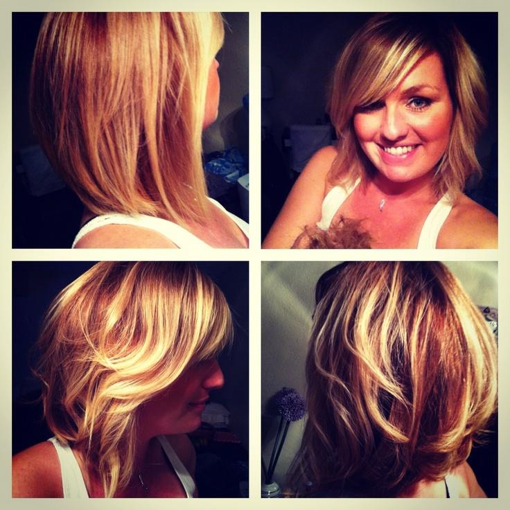 Blonde ombr long bob hair pinterest bobs - Long bob ombre ...