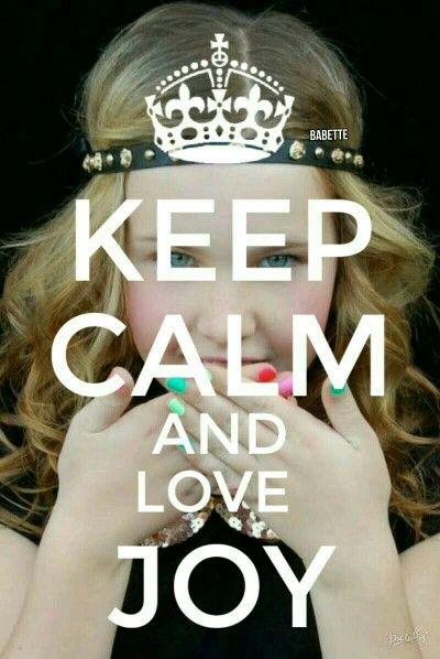 Keep calm and love Joy beautynezz babette