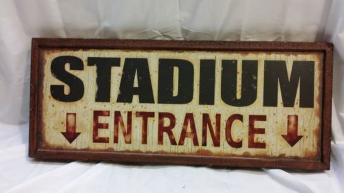 Stadium Entrance Vintage Sports Decor Tin Sign | eBay