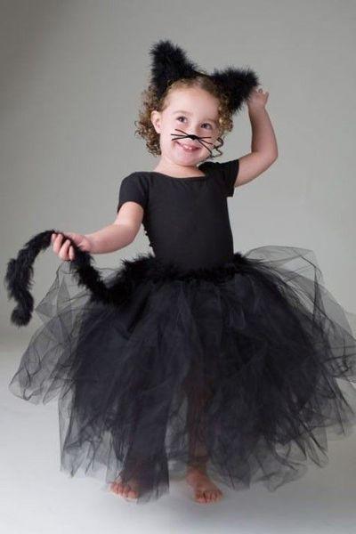 easy DIY halloween black cat tutu costume girls-- the big girl tutu version