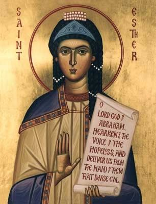 """SAINT ESTHER - In the East, the church never stopped using the Greek Old Testament (including the longer version of Esther and all those other """"apocryphal"""" books). Consequently there was very little controversy over Esther in the Eastern church. Why? It turns out that all the missing """"God stuff"""" in the Hebrew version is present in the Greek, the version quoted approvingly by Clement, Athanasius, and Aphrahat."""