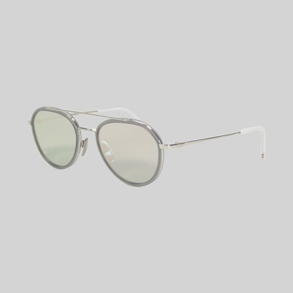 Thom Browne sunglasses in silver with silver lenses - coolness for the summer. thombrowne
