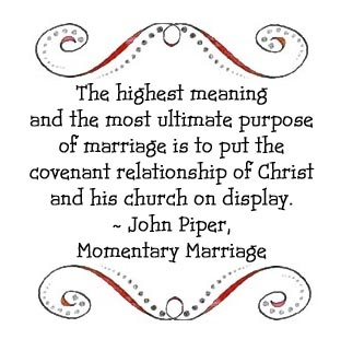 John Piper, Momentary Marriage: