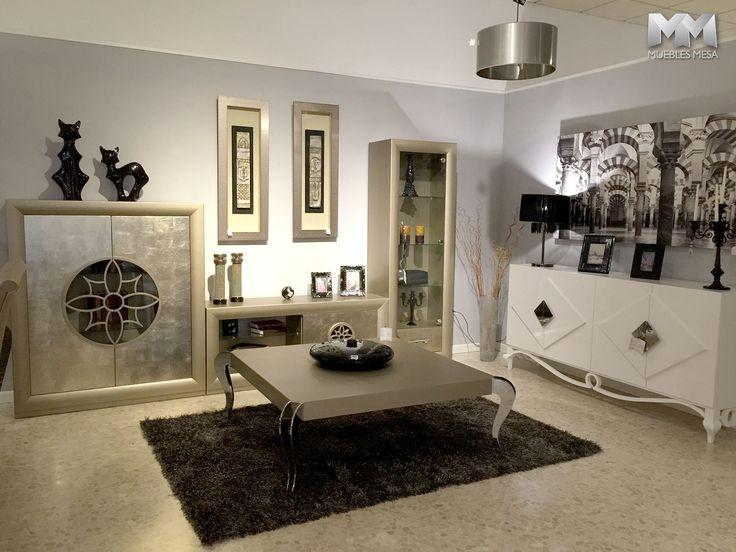Muebles franco furniture en la exposici n de muebles mesa en lucena sal n tv www - Fabricas de muebles en lucena ...
