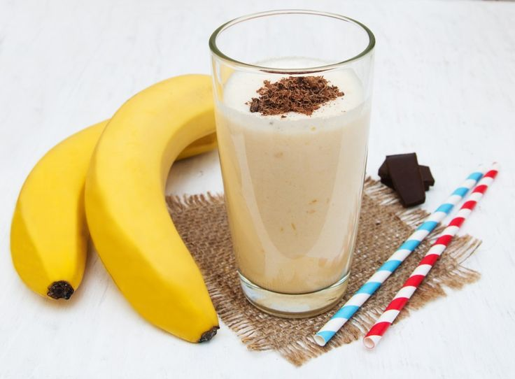 Over 1000 Smoothie Recipes Including Banana smoothie with chocolate on a old white wooden background