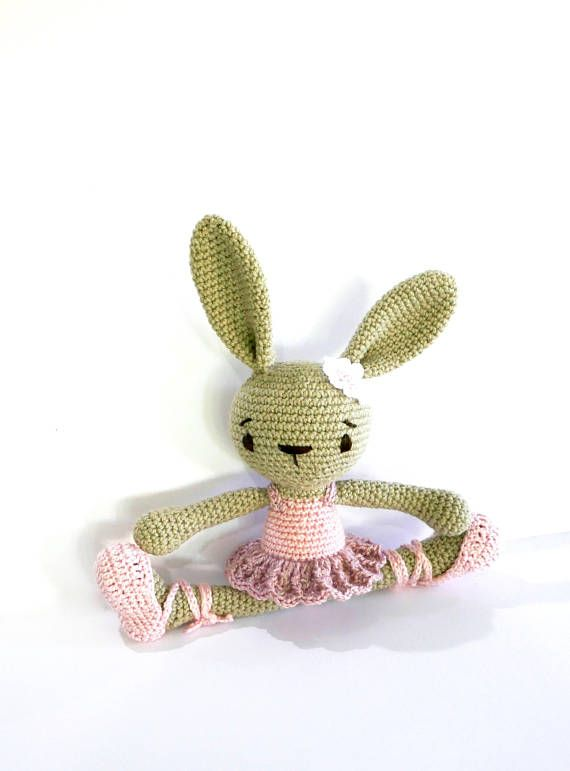 READY TO SHIP Ballerina Bunny Baby Girl Toy Crochet Bunny