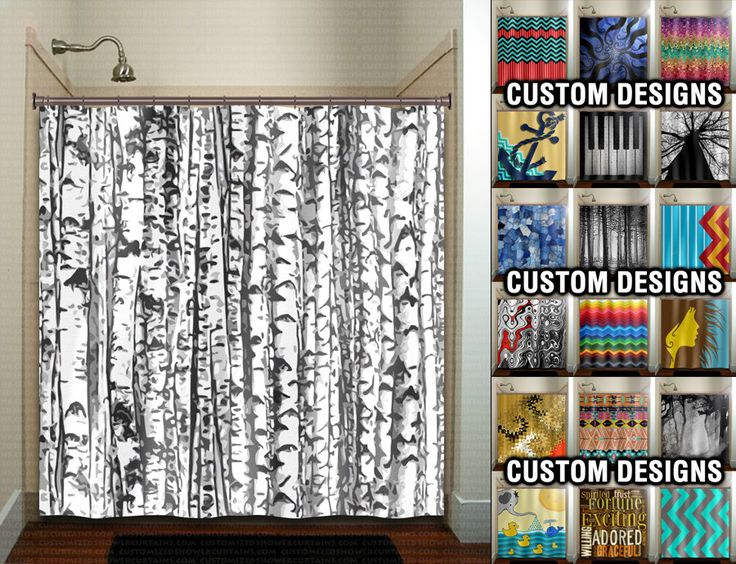 Trunk Forest White Birch Trees Shower Curtain Bathroom Decor Fabric Kids  Bath Window Curtains Panels Valance