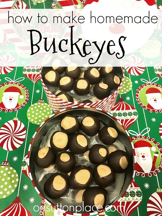 Homemade Peanut Butter Buckeyes Recipe | Step by step directions for making buckeyes. Includes great pointers!