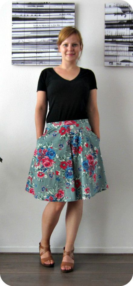 Coulottes that look like a skirt pattern
