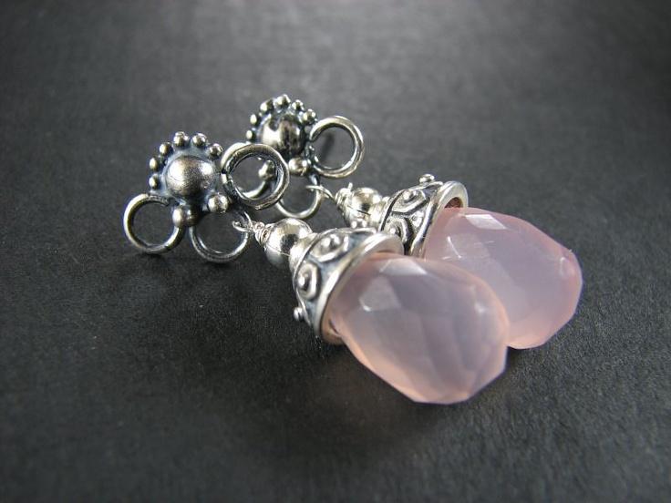 kwarc różowy, srebro