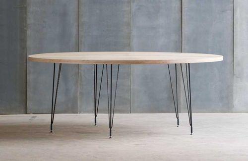 Table ronde contemporaine en bois et métal - SPUTNIK - ArchiExpo