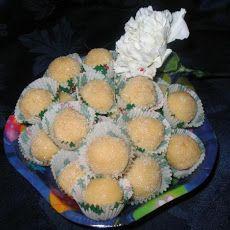 * Brazilian Coconut Balls ( Beijinho de Coco ) *  http://www.yummly.com/recipe/Beijinho-De-Coco-_brazilian-Coconut-Balls_-Recipezaar?columns=4=14%2F36=4=14%2F36