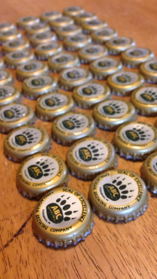 50 Appalachian Brewing Company ABC Bottle Caps by BurdsHouse