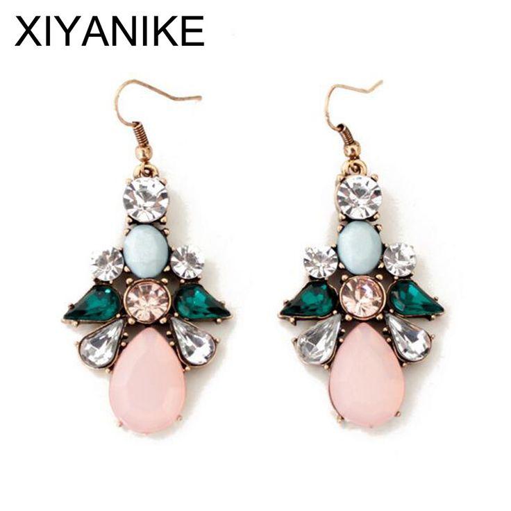 2016 New Brand European and American Korean Fashion Jewelry Wholesale Big Flower-shaped Drop Earrings For Women XY-E210