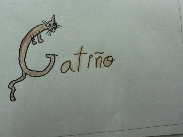 G...gatiño: gato pequeno
