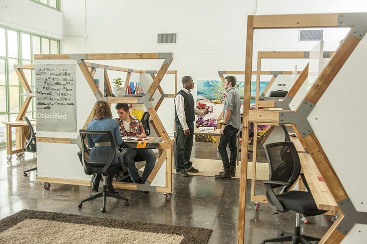 HIVE workstations made from recycled materials