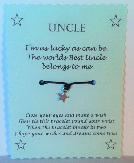 Best Uncle gift Wish Bracelet Uncle bracelet Uncle by GemsNJewells