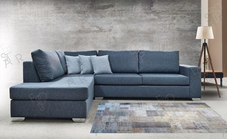 Σαντορίνη γωνιακός καναπές