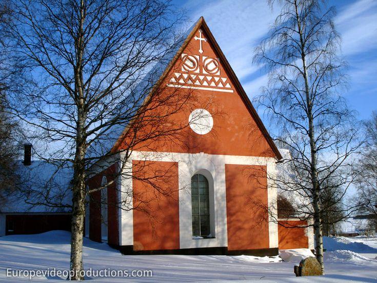 Eglise de Kalix en Laponie suédoise