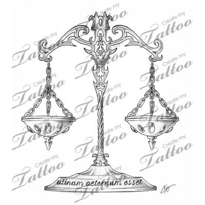 Libra Scale Tattoo Designs