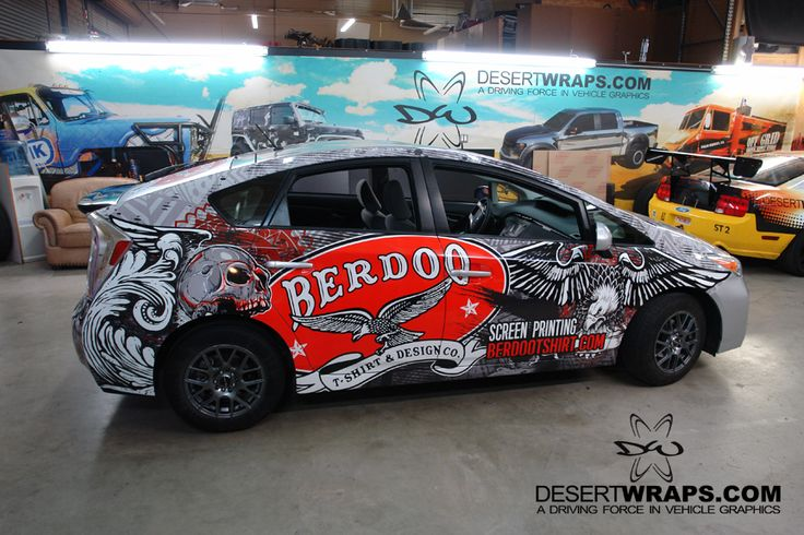 Berdoo T-shirt & Design, Co. car wrap install by DesertWraps.com in Palm Desert, Ca. 760-935-3600. #CarWrap #PalmSprings Servicing Palm Springs, Cathedral City, Rancho Mirage, Palm Desert, La Quinta, Indian Wells, Indio, Coachella Valley.