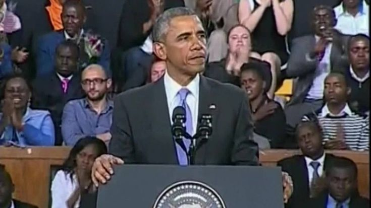 Obama delivers powerful speech to the people of Kenya. #africa #obama #kenya