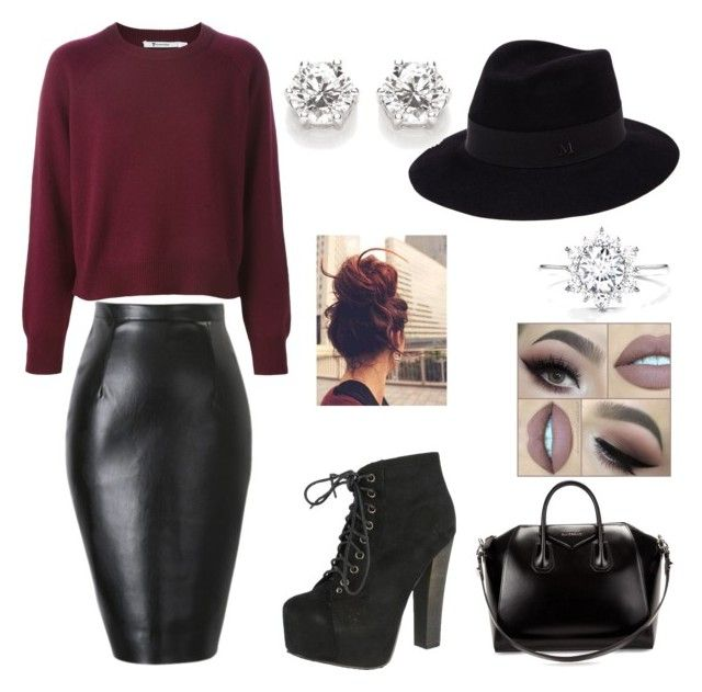 Без названия #3 by elizaveta-kastaleva on Polyvore featuring polyvore, beauty, Maison Michel, Givenchy and Breckelle's