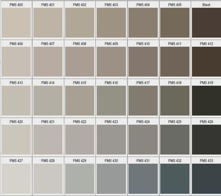 Pantone tonos gris / beige