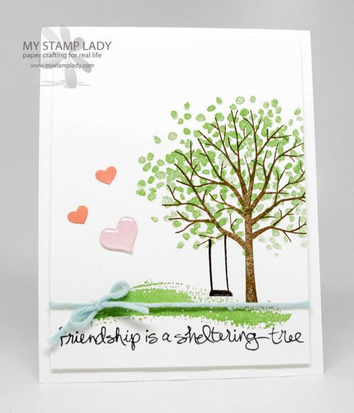 Handmade card with the Stampin' Up! Sheltering Tree Set. Preview from the new Stampin' Up! Occasions catalog. www.mystamplady.com