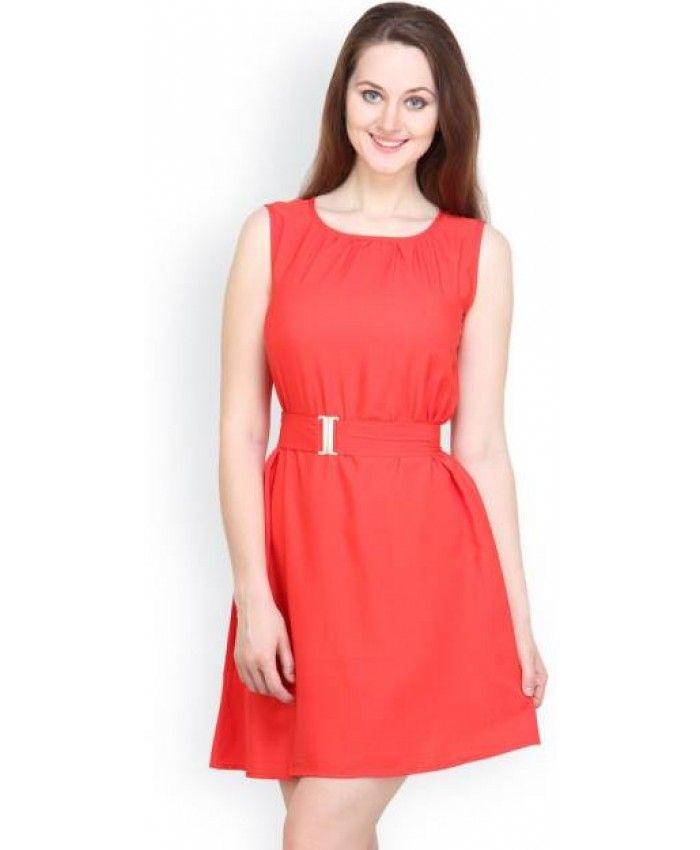 Tops and Tunics Women's A-line Maroon Dress