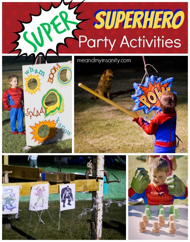 Superhero Birthday For Kids
