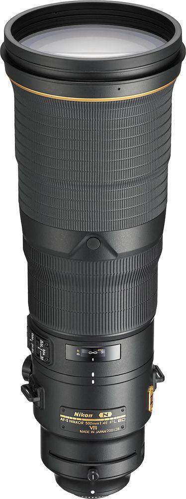 Nikon - AF-S NIKKOR 500mm f/4E FL ED VR Super Telephoto Lens - Black