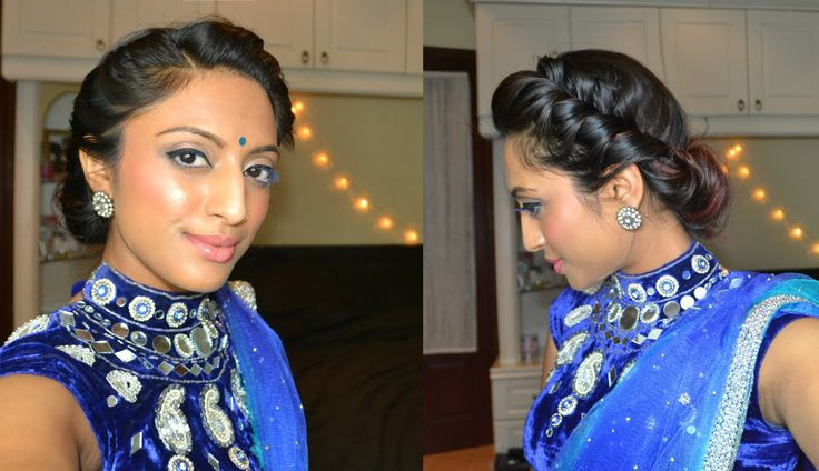 Easy 2 minute twist & rolled updo hairstyle elegant, bohemian indian bridal bridesmaids look - YouTube