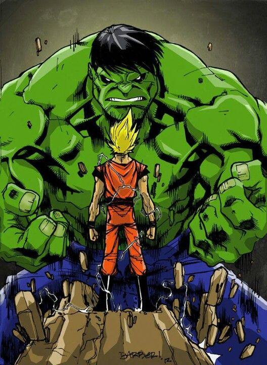 Hulk vs Goku. Hulk ate Goku's food... #SonGokuKakarot