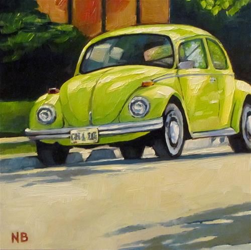 """Shady Bug"" - Original Fine Art for Sale - © Nora Bergman"