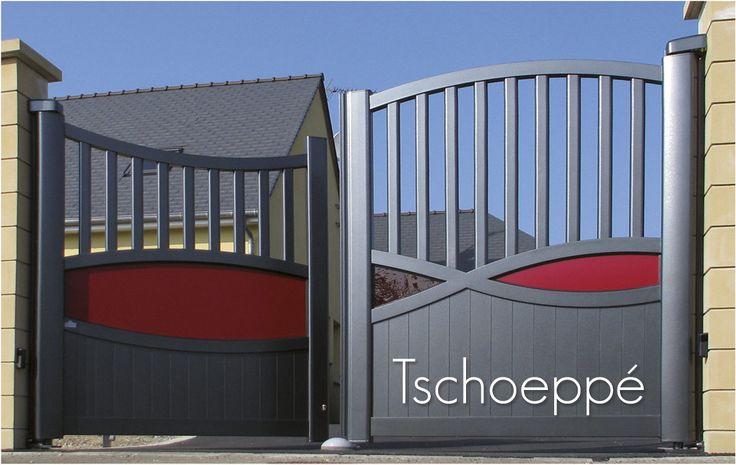 Portail alu motorisé (moteur dissimulé dans les montants) www.tschoeppe.fr Plus