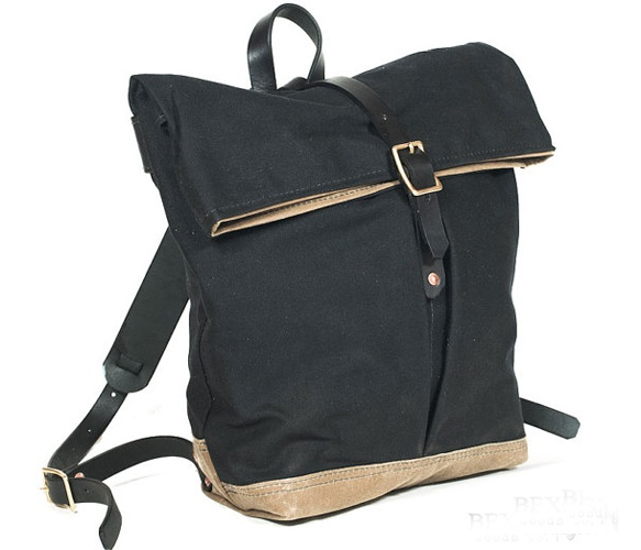 Urban Foldtop Backpack ... loving this waxed canvas