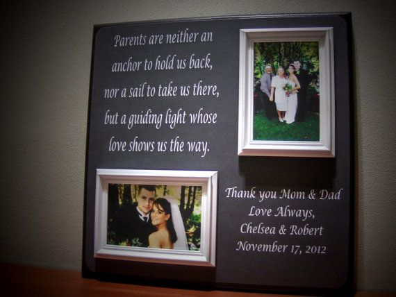 Thank You Gifts For Parents At Wedding: Parents Wedding Gift Father Of Mother Of By