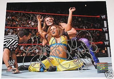 WWE MICKIE JAMES SIGNED PHOTOFILE W/ EXACT PROOF & COA