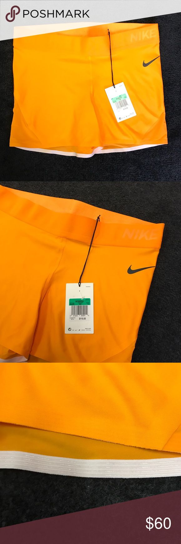 "Nike Lab Essentials Pro 3""-Orange Training Shorts Nike Lab Essentials Pro 3"" Shorts 