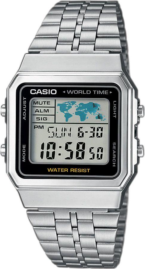 CASIO A 500WEA-1 Unisex hodinky s podsvietením a budíkom