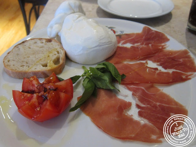Image of the Homemade burrata and prosciutto at Keste Pizza and Vino in NYC, New York
